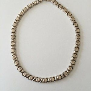 Vintage Sterling Silver Italy Hugs Kisses Necklace